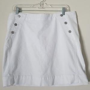 VINEYARD VINES White Denim Mini Skirt Size…